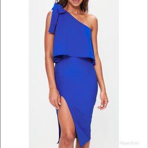 One Shoulder Cobalt Dress